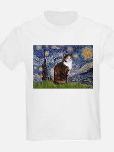 Starry Night & Calico Cat (#1 T-Shirt