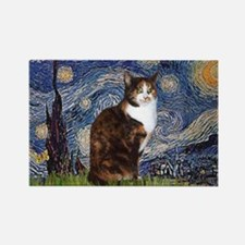 Starry Night & Calico Cat (#1 Rectangle Magnet