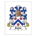 Jeune Family Crest Small Poster