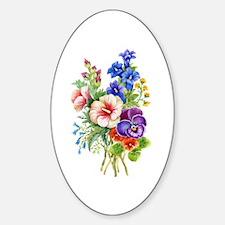 Summer Bouquet Sticker (Oval)