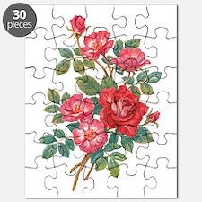 Romantic Red Roses Puzzle