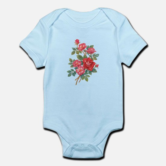 Romantic Red Roses Infant Bodysuit