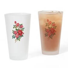 Romantic Red Roses Drinking Glass