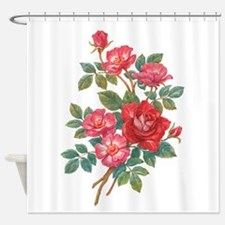 Romantic Red Roses Shower Curtain