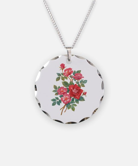 Romantic Red Roses Necklace