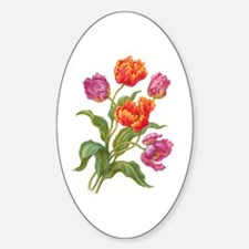 Wine and Apricot Parrot Tulips Decal