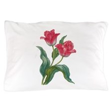 Red Tulips Pillow Case
