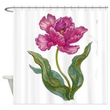 Burgundy Parrot Tulips Shower Curtain