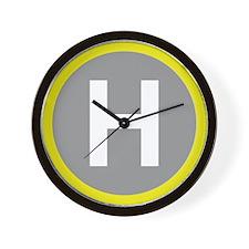 Helipad Sign Wall Clock