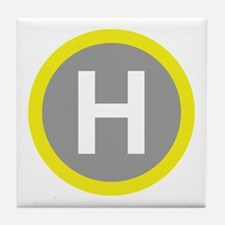 Helipad Sign Tile Coaster