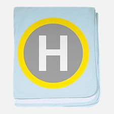 Helipad Sign baby blanket
