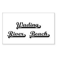 Wading River Beach Classic Retro Design Decal