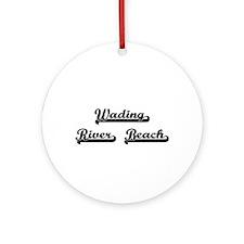 Wading River Beach Classic Retro Ornament (Round)