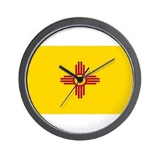 New Mexico Flag Yellow Wall Clock