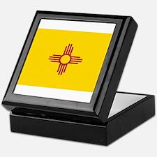 New Mexico Flag Yellow Keepsake Box