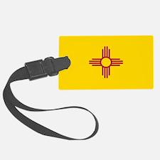 New Mexico Flag Yellow Luggage Tag