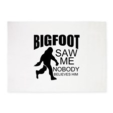 funny bigfoot 5'x7'Area Rug
