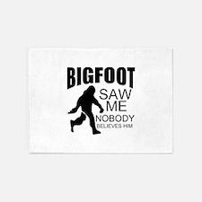 funny bigfoot 5'x7'Area Rug