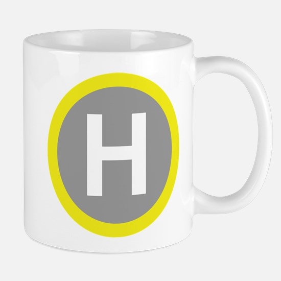 Helipad Sign Mugs