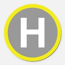 Helipad Sign Round Car Magnet
