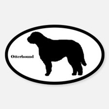 Otterhound Silhouette Oval Decal