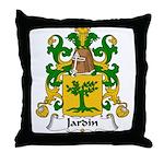 Jardin Family Crest Throw Pillow