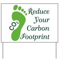 Carbon Footprint Yard Sign