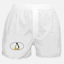 Tux Linux Oval Boxer Shorts