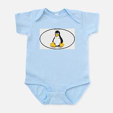 Tux Linux Oval Body Suit