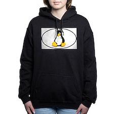 Tux Linux Oval Women's Hooded Sweatshirt
