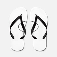 Tux Linux Oval Flip Flops