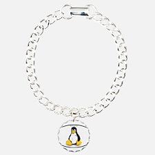Tux Linux Oval Bracelet
