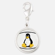 Tux Linux Oval Charms