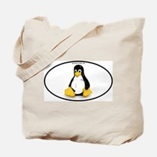 Tux Linux Oval Tote Bag