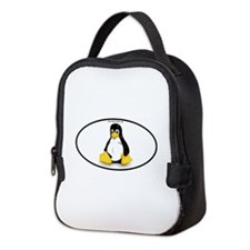 Tux Linux Oval Neoprene Lunch Bag