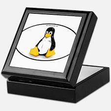 Tux Linux Oval Keepsake Box