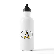 Tux Linux Oval Water Bottle