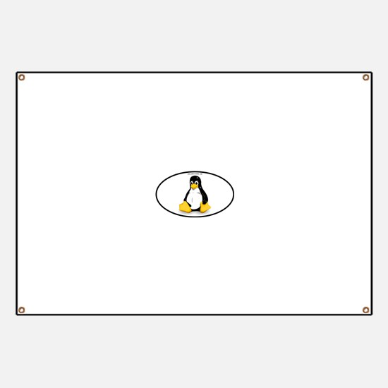 Tux Linux Oval Banner