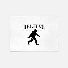 believe in bigfoot 5'x7'Area Rug