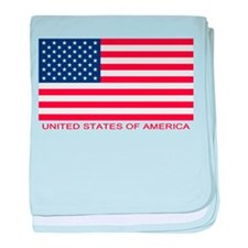 United States of America Flag baby blanket