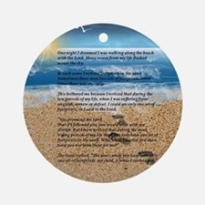 Footprints in the Sand Round Ornament