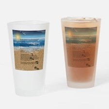 Footprints in the Sand Drinking Glass