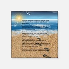 """Footprints in the Sand Square Sticker 3"""" x 3"""""""
