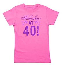 Fabulous 40th Birthday Girl's Tee