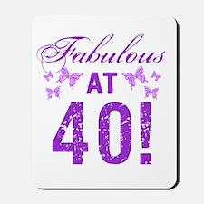 Fabulous 40th Birthday Mousepad