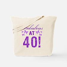Fabulous 40th Birthday Tote Bag