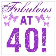 Fabulous 40th Birthday Poster
