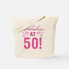 Fabulous 50th Birthday Tote Bag