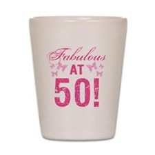 Fabulous 50th Birthday Shot Glass