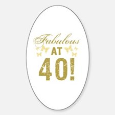 Fabulous 40th Birthday Decal